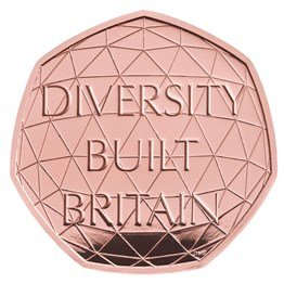 Diversity 50p Gold Proof Piedfort Coin
