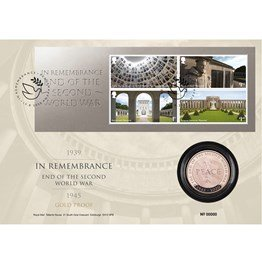 End of the Second World War Gold Proof Coin Cover