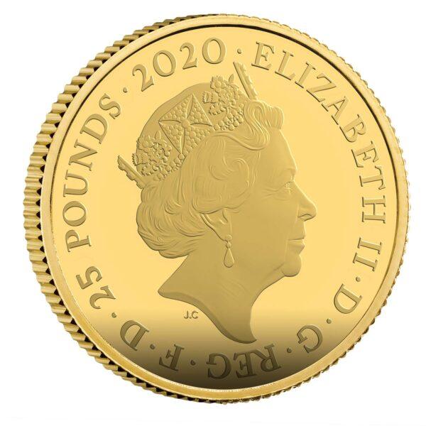 Shaken Not Stirred 2020 UK Quarter-Ounce Gold Proof Coin Obverse