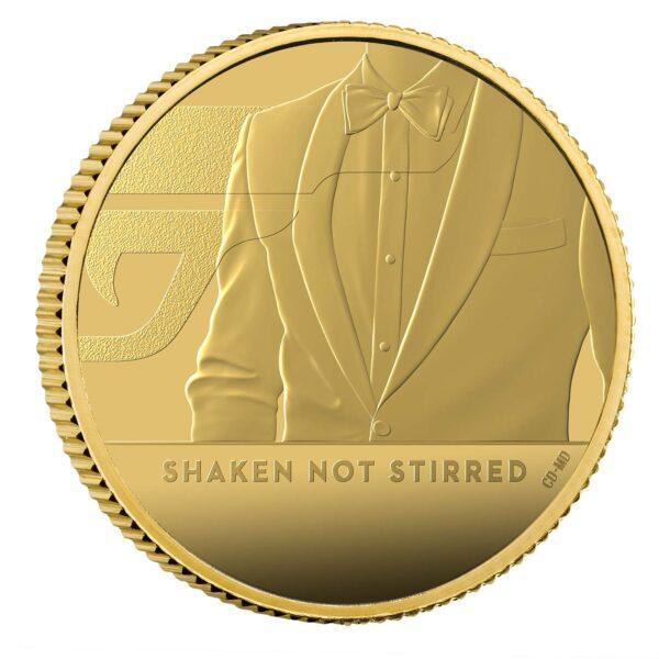 Shaken Not Stirred 2020 UK Quarter-Ounce Gold Proof Coin Reverse