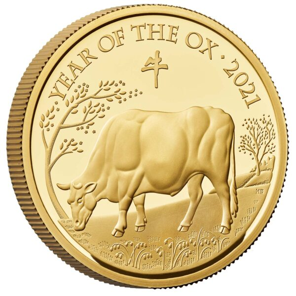 Lunar Year of the Ox 2021 One Ounce Gold Proof Coin Reverse